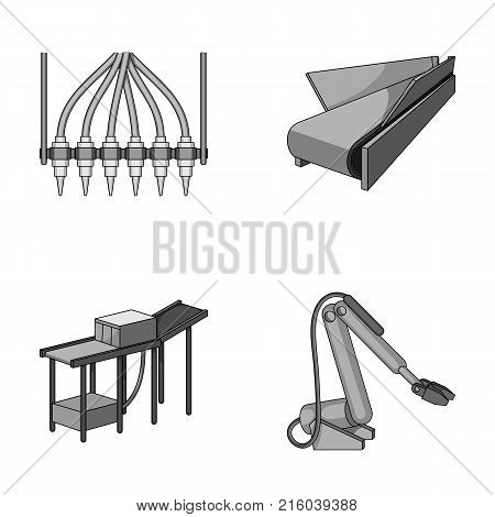 Modern equipment and other  icon in monochrome style.Machine tools and equipment factory icons in set collection.