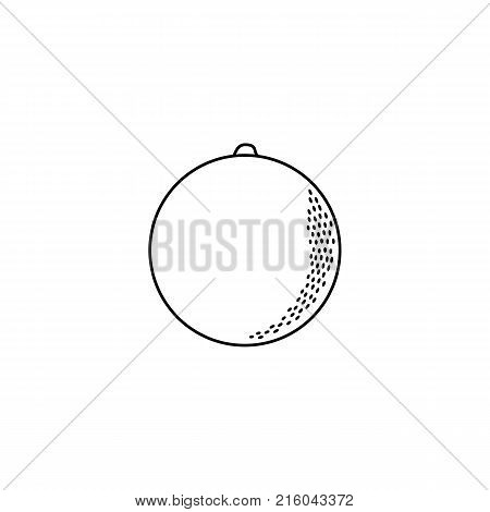 vector flat sketch style black and white contour orange. Isolated illustration on a white background. Healthy vegetarian eating, dieting and lifestyle design object.