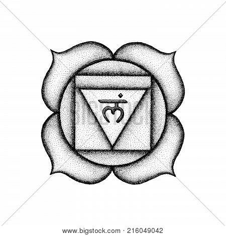 Hand Drawn Chakra Sahasrara Illustration.