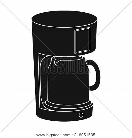 Coffee, cup, single icon in black style.Coffee, cup, vector symbol stock illustration .