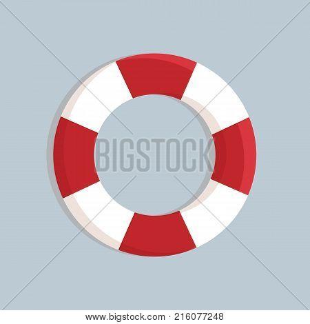 Lifebuoy design. Lifebelt icon concept. Vector stock.