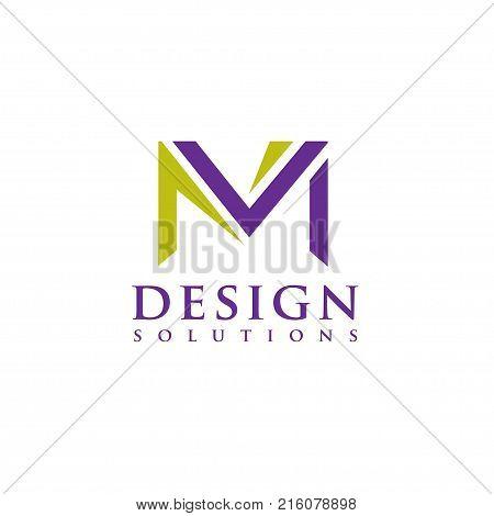 Letter M logo vector illustration template, letter M trend logo vector, creative Letter M letter logo