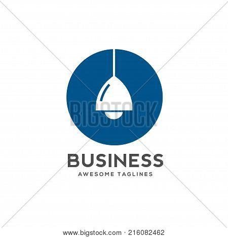 best Lamp logo sign symbol. creative Lamp vector logo. Modern vector pictogram for web graphics - stock vector