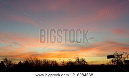 A beautiful morning sunrise in Amarillo, Texas.