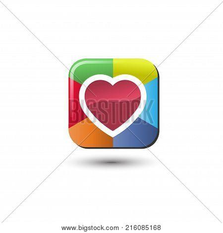Heart Heart Icon Vector Photo Free Trial Bigstock