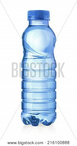 water plastic bottle isolated on white with clipping path