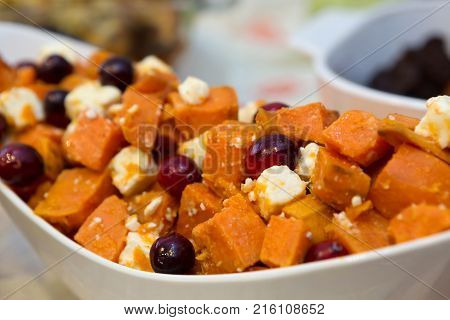 Bountiful Thanksgiving Table Full of Appetizing Food poster