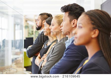 Group of business people with competence looking to the future