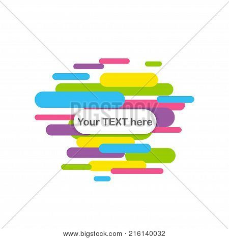 Speed line abstract modern colorful mockup. Colored cover book template trendy rounded corner banner.