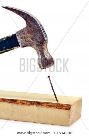 Hammer Hitting Nail On The Head