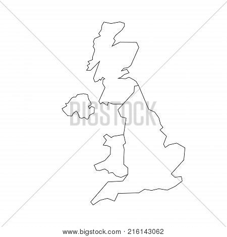Simple Map Of England.Map United Kingdom Vector Photo Free Trial Bigstock