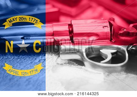 North Carolina flag (U.S. state) Gun Control USA. United States Gun Laws.