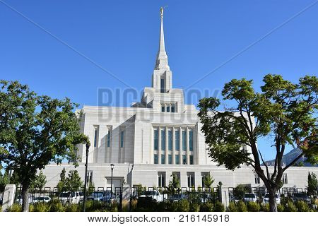 Mormon Temple in Ogden, Utah, in USA