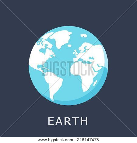 Earth icon. Vector planet icon. Flat design vector illustration for web banner, web and mobile, infographics. Vector Earth icon graphic.
