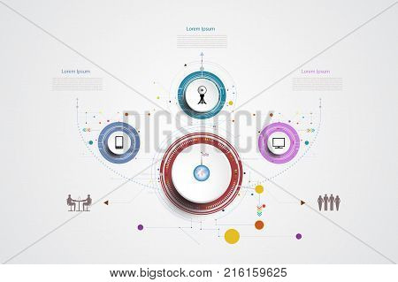 Infographic technology template timeline hi-tech digital and engineering telecoms can be used for your businessbook cover layout template bannerdiagram InfographpresentationVector illustration