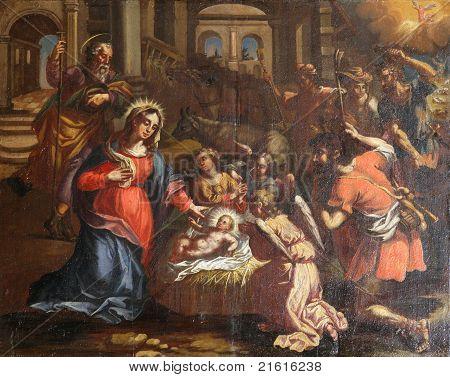 Nativity Scene, Adoration of the Shepards