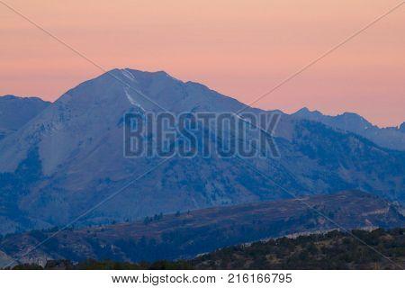 Sunrise over the La Plata mountains in Durango, CO