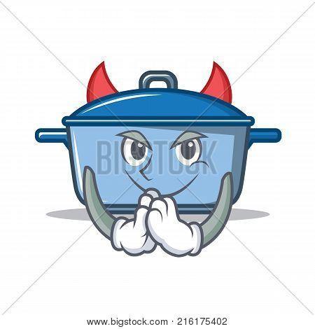 Devil kitchen character cartoon style vector illustration
