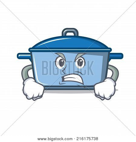 Angry kitchen character cartoon style vector illustration