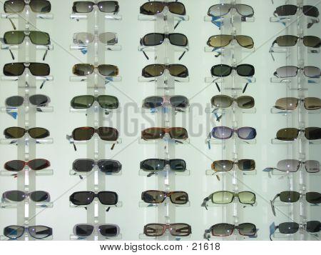 Backlit Display Of Sunglasses