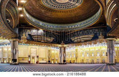 Kuwait Grand Mosque interior - 07-01-2015 Kuwait-city Kuwait