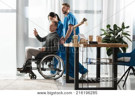 fell mature man asking doctors to help