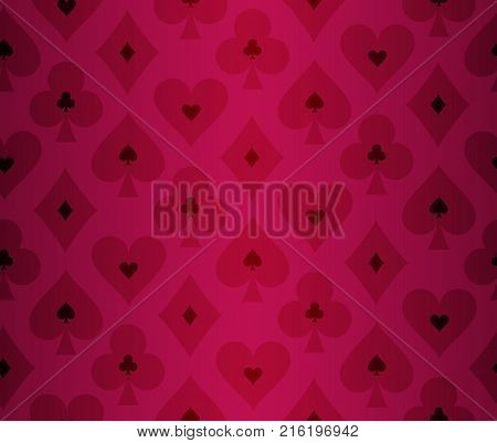 Simple poker background with transparent effect pattern