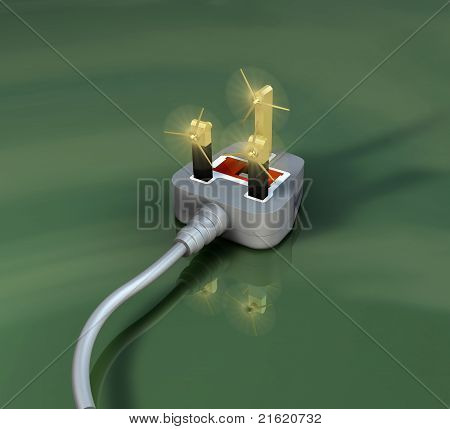 Alternative energy, plug with turbines