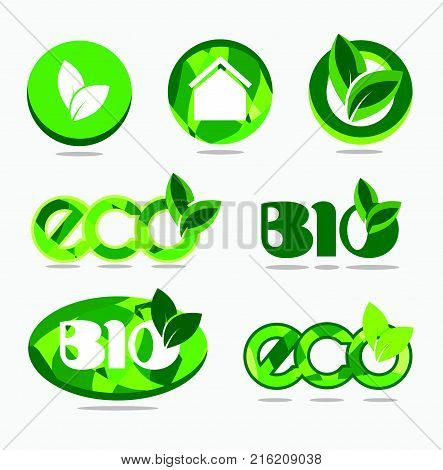 Icon set eco, eco friendly, ecological set. Eco set