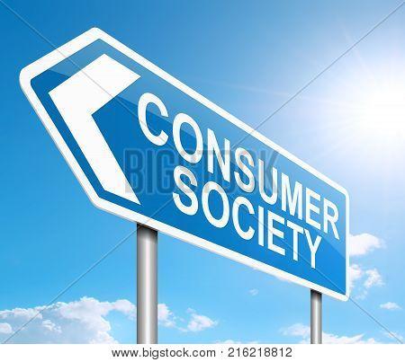 Consumer Society Concept.