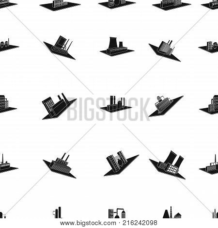 Processing factory, metallurgical plant and other production. Factory and industry set collection icons in black style isometric vector symbol stock illustration