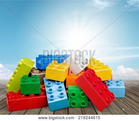 Color colorful toy blocks toy blocks plastic blocks game
