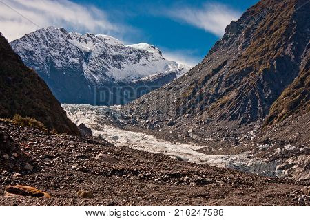 Famous Franz Josef Glacier in Westland as one of the most visited site in New Zealand