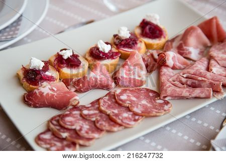 typical appetizer of the Piedmont piedmont region with cured meats-2