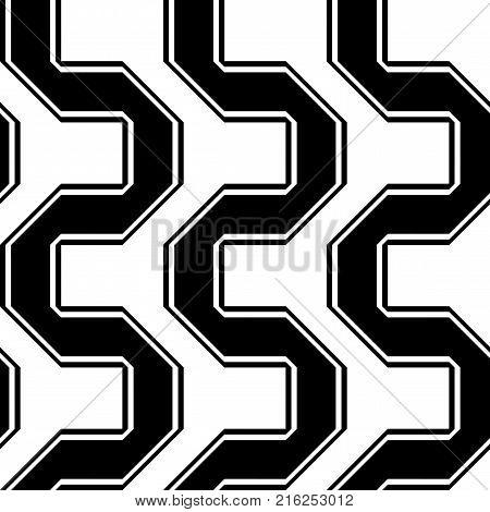 Design Seamless Monochrome Illusion Pattern
