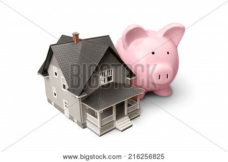 House bank pig piggy piggy bank small isolated