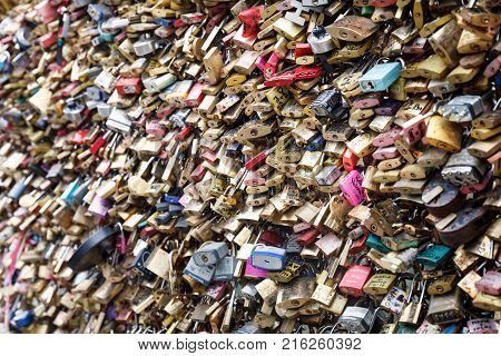 Love Locks In Paris, France