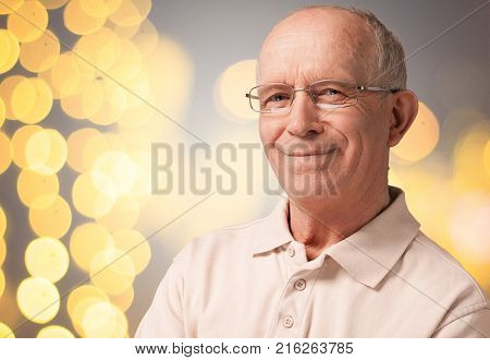 Smiling man senior senior man man smiling one person old man