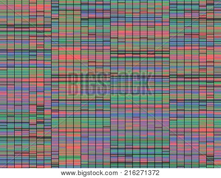 2D Illustration of a method of colored DNA sequencing.