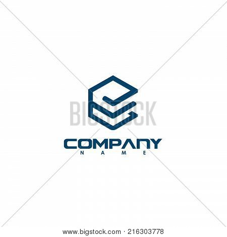 creative letter E logo, Abstract business logo design template, modern Letter E Logo template editable for your business