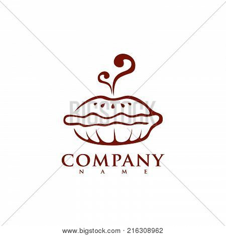 Bakery Shop Logo Template. Vector Design Element Vintage Style for Logotype, Label, Badge, Emblem. Brewery Logo, Bakery Label, Baker Logo, Pie Icon, Baking Logo, Retro Apple Pie Logo, Logo Vector.