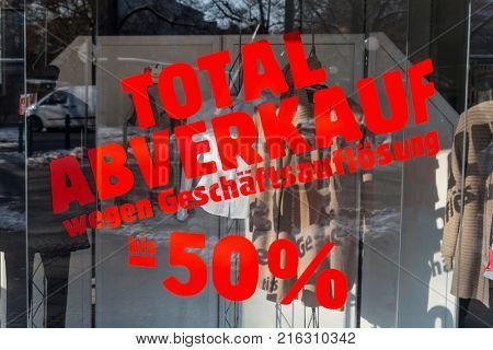 total sales - business liquidation