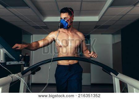 Athlete On Treadmill At Sports Science Lab