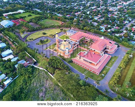 Landscape of Managua town in Nicaragua Central America