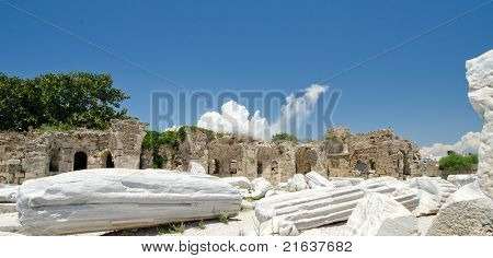 Ruins Of Athena Temple Side Turkey