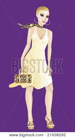 Yellow Gold Woman Dress