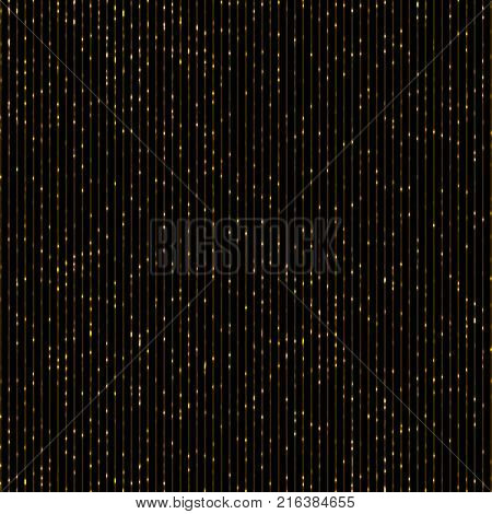 Vector golden glitter background. Strips shining abstract background. Vector new year shining background. Disco party template.