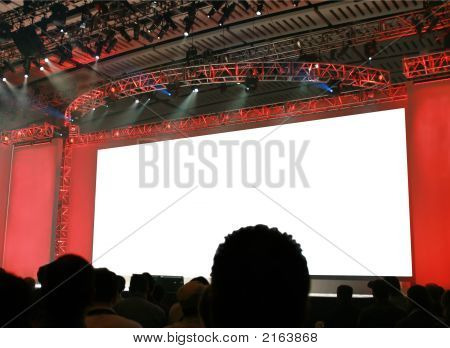 Blank Stage Background For Your Announcement!