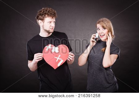 Young Couple In Separation Because Of Betrayal.
