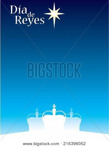 Three Kings Day Dia de Reyes Background for Invitation or Poster